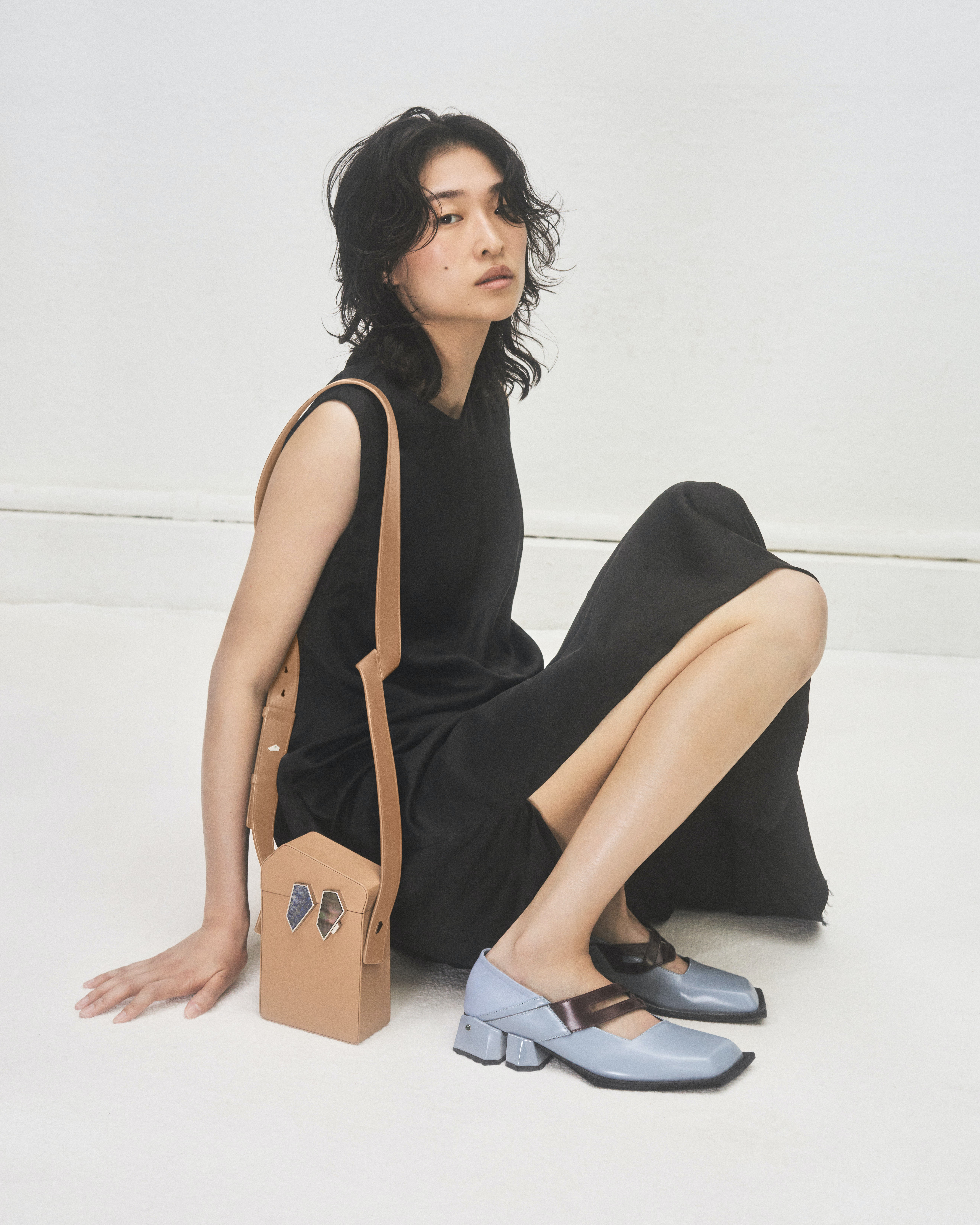 Steven Ma\'s first collection of shoes and bags modelled by Chu Wong. Casper Sejersen.