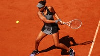 Naomi Osaka at the 2021 French Open. Getty.