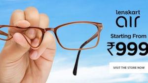 An advertisement for Lenskart. Lenskart
