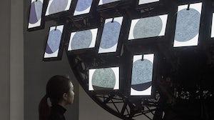 Artist Phoebe Hui's exhibition, The Moon Is Leaving Us, presented by Audemars Piguet at Art Basel Hong Kong. Audemars Piguet.