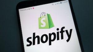 The Shopify app. Shutterstock.