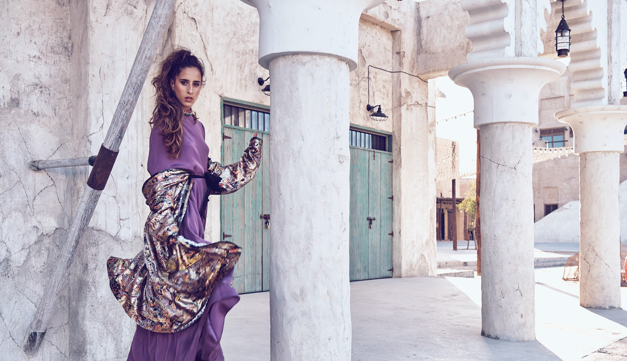 Taleedah Tamer appears in a shoot for Harper\'s Bazaar Arabia in April 2018. ITP Media.