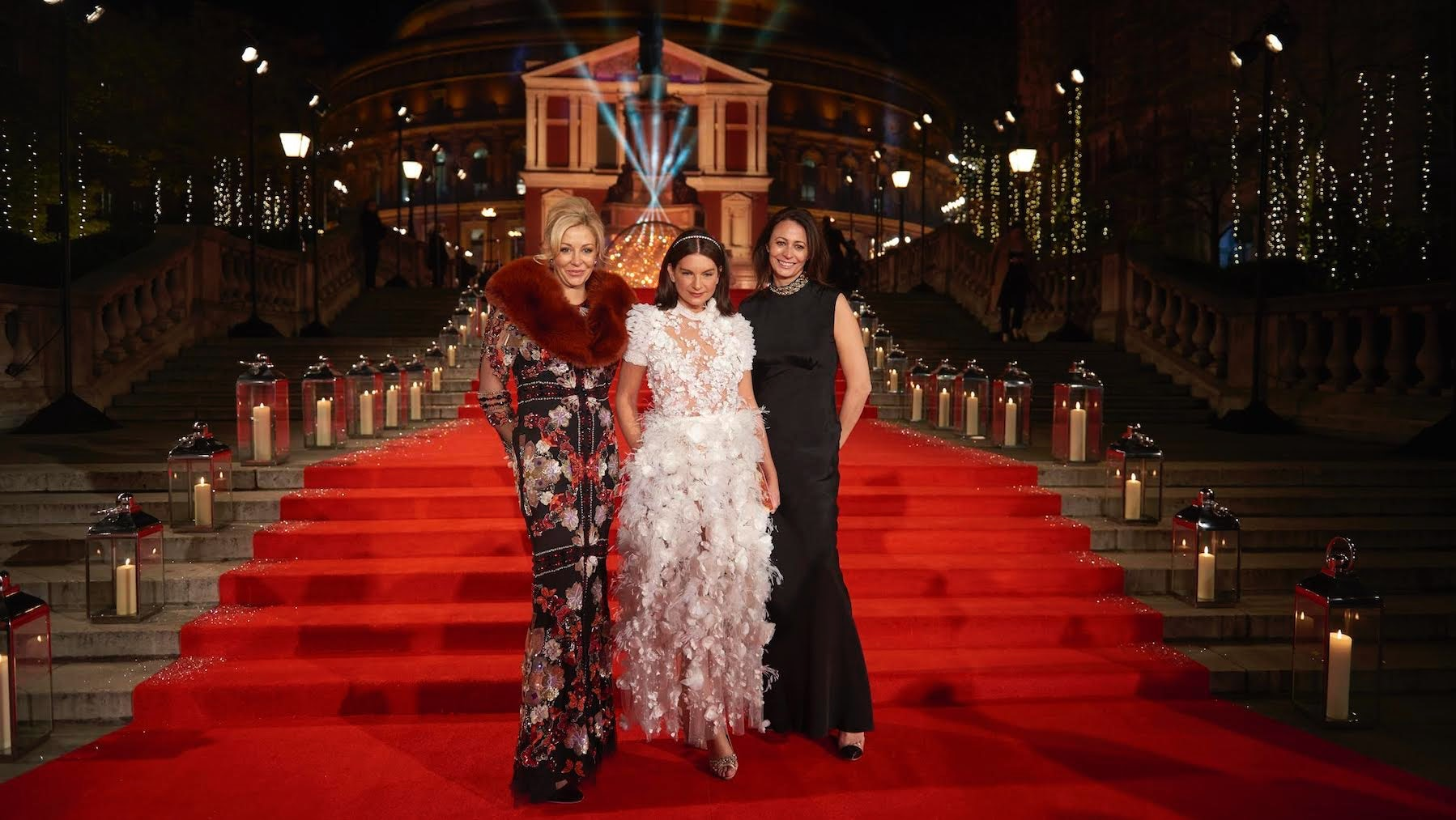 Nadja Swarovski, Dame Natalie Massenet and Caroline Rush at the 2016 Fashion Awards in London. Courtesy.