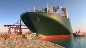 A ship blocked the Suez Canal for six days, causing major supply chain disruption. Shutterstock.