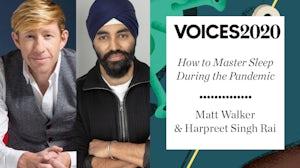 Dr Matthew Walker & Harpreet Singh Rai.