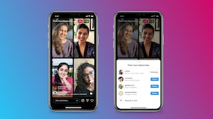 Instagram Live Rooms allow up to four speakers at once. Instagram.