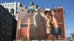 A Calvin Klein billboard in Lower Manhattan in 2016. Shutterstock.