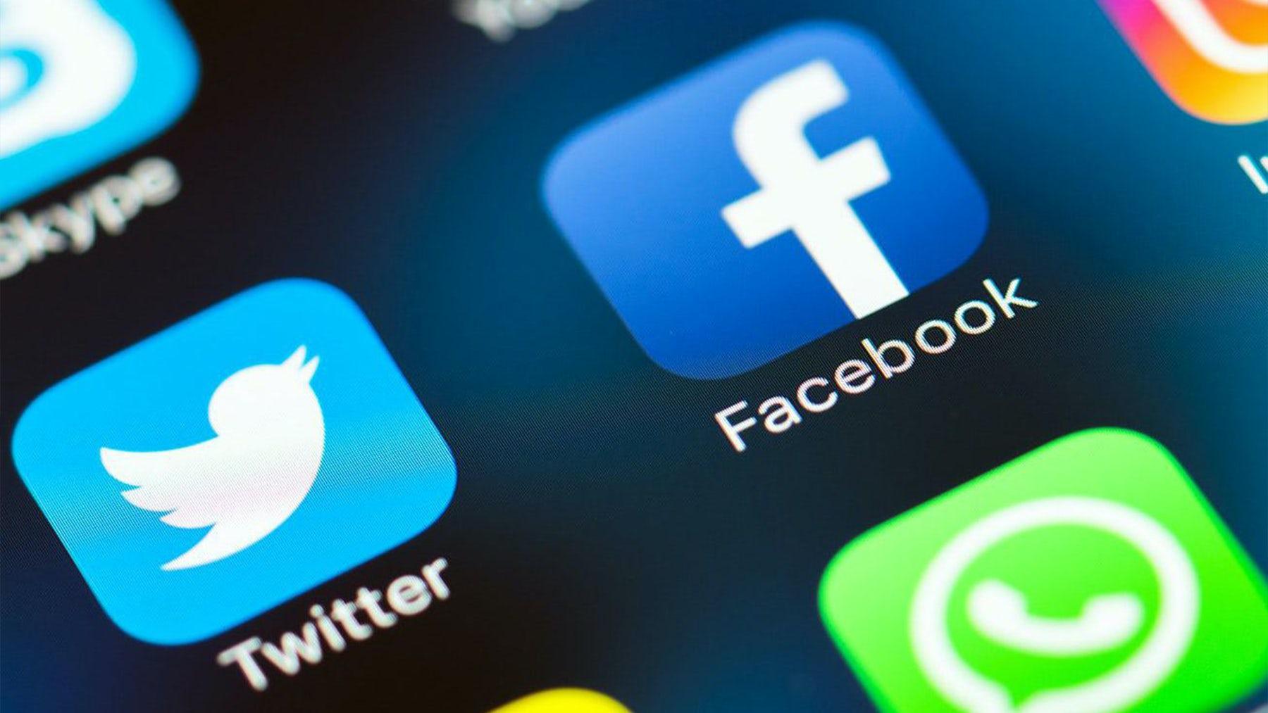 Twitter and Facebook apps. Shutterstock.