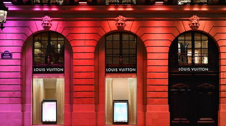 法国巴黎路易威登专卖店的门面。 盖蒂图片社。
