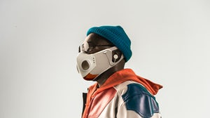 "Will.i.am and Honeywell's new ""Xupermask."" Courtesy."