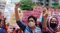 A demonstration on May 21 in Dhaka, Bangladesh organised by Sommilito Garments Sramik Federation (SGSF). Awaj Foundation.