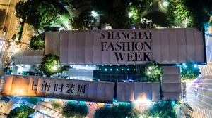 The Shanghai Fashion Week event spaces from above. Shanghai Fashion Week.
