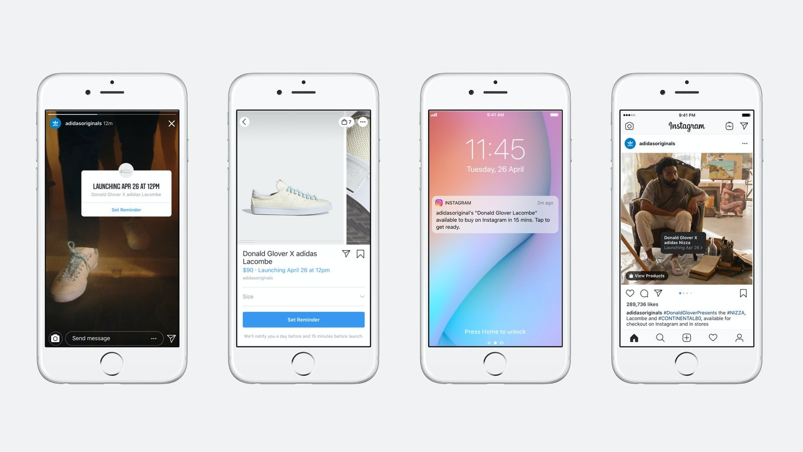 Instagram\'s 'Drops' shopping feature. Instagram.