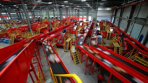 JD.com's automated logistics and warehouse complex in Gu'an, China. Getty Images.