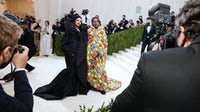 Rihanna in Balenciaga and ASAP Rocky in ERL at the 2021 Met Gala. Arturo Holmes/MG21/Getty Images