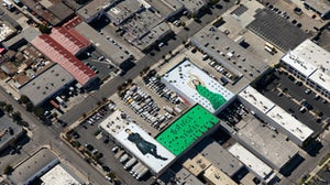 Bottega Veneta's rooftop campaign near LAX. Bottega Veneta.