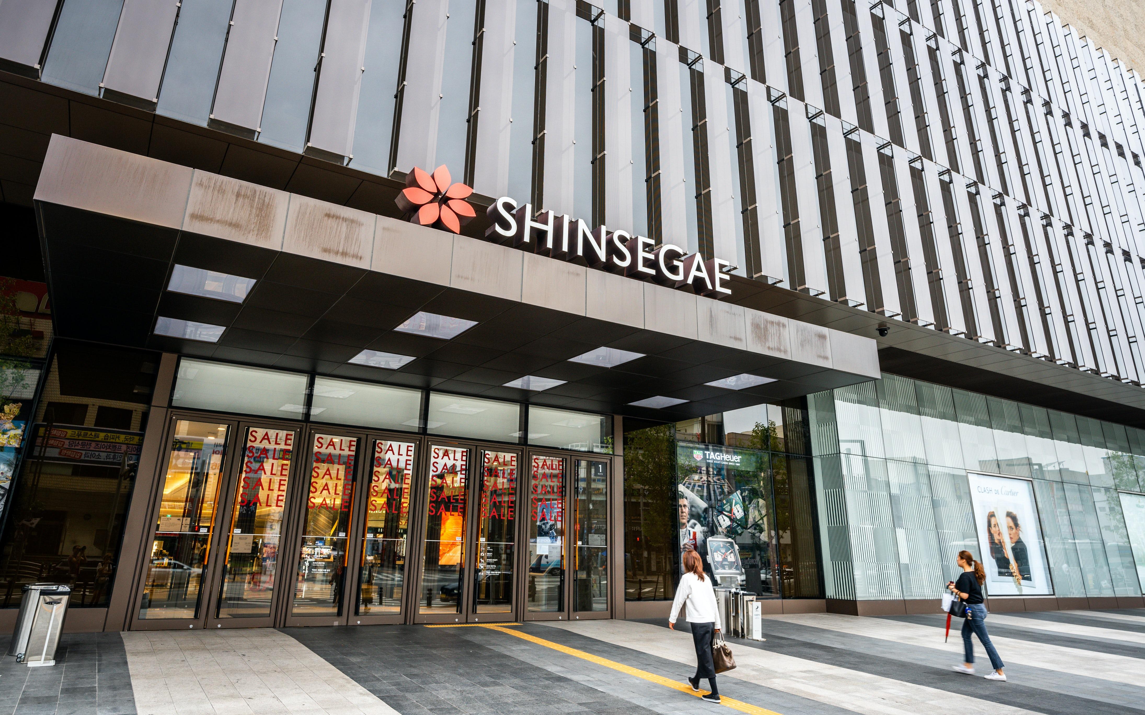 Outside a Shinsegae department store in Daegu, South Korea. Shutterstock.