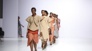 Loza Maléombho at Lagos Fashion Week 2021. Kola Oshalusi for Lagos Fashion Week.