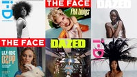Recent covers of i-D, The Face, Dazed. Courtesy.