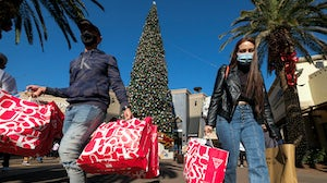 Shoppers at the Citadel Outlets in Commerce, Calif. on Friday, Nov. 27, 2020. Shutterstock.