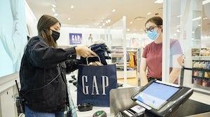 Gap store checkout. Gap Inc.
