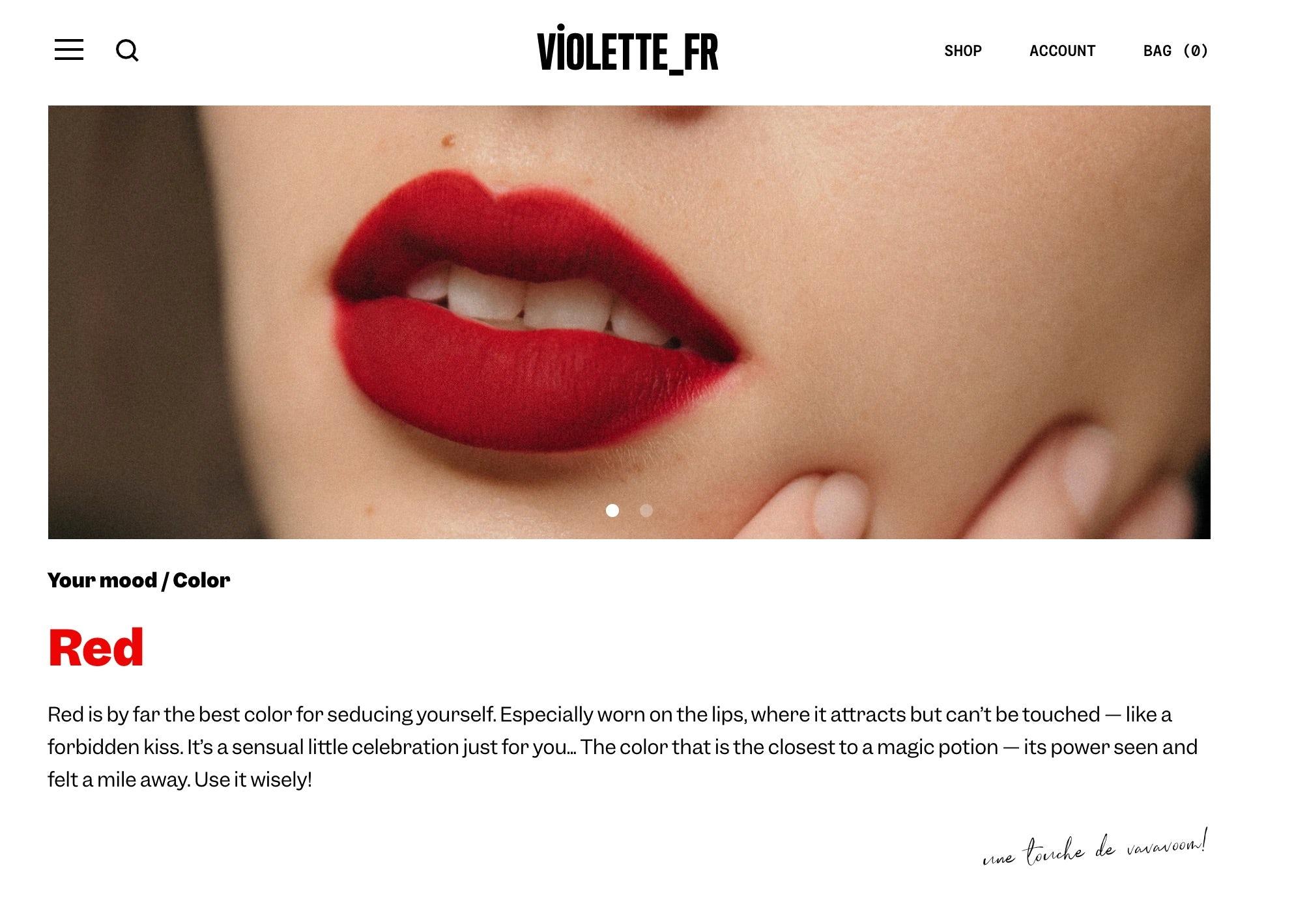 Violette-Fr launches March 30.