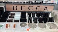 Becca Cosmetics brand display in 2019. Shutterstock