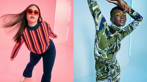 Looks from Victor Glemaud and Rachel Comey for Target's Fall 2021 collection. Target