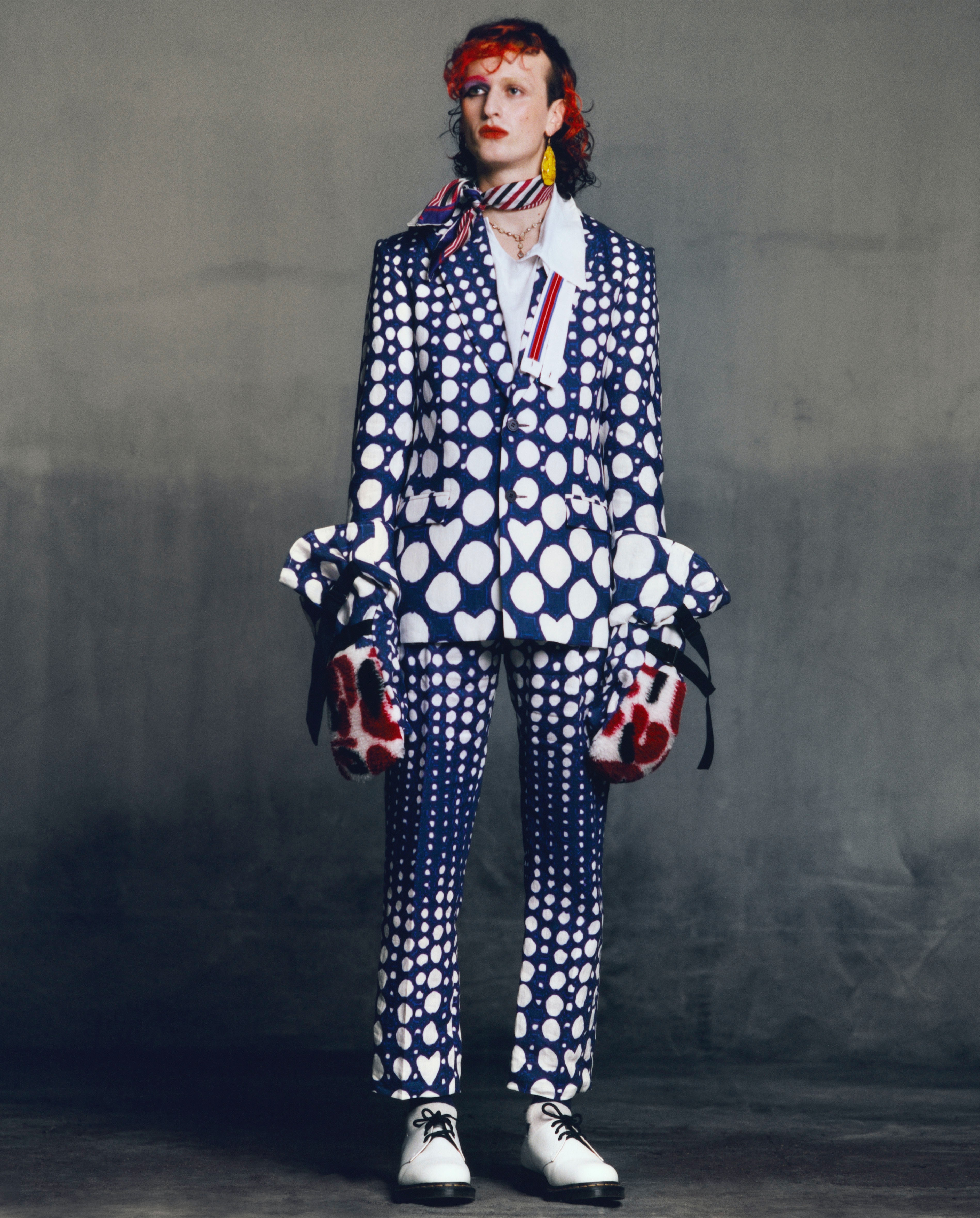 A look from Charles Jeffrey Loverboy\'s Autumn/Winter 2021 collection. Courtesy.