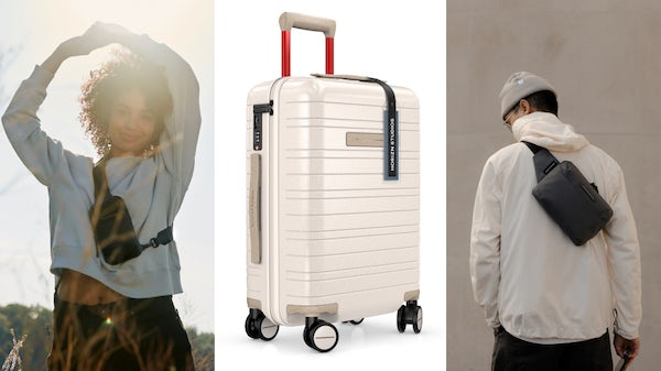 Horizn Studios campaign imagery and The Circle One luggage. Horizn Studios.