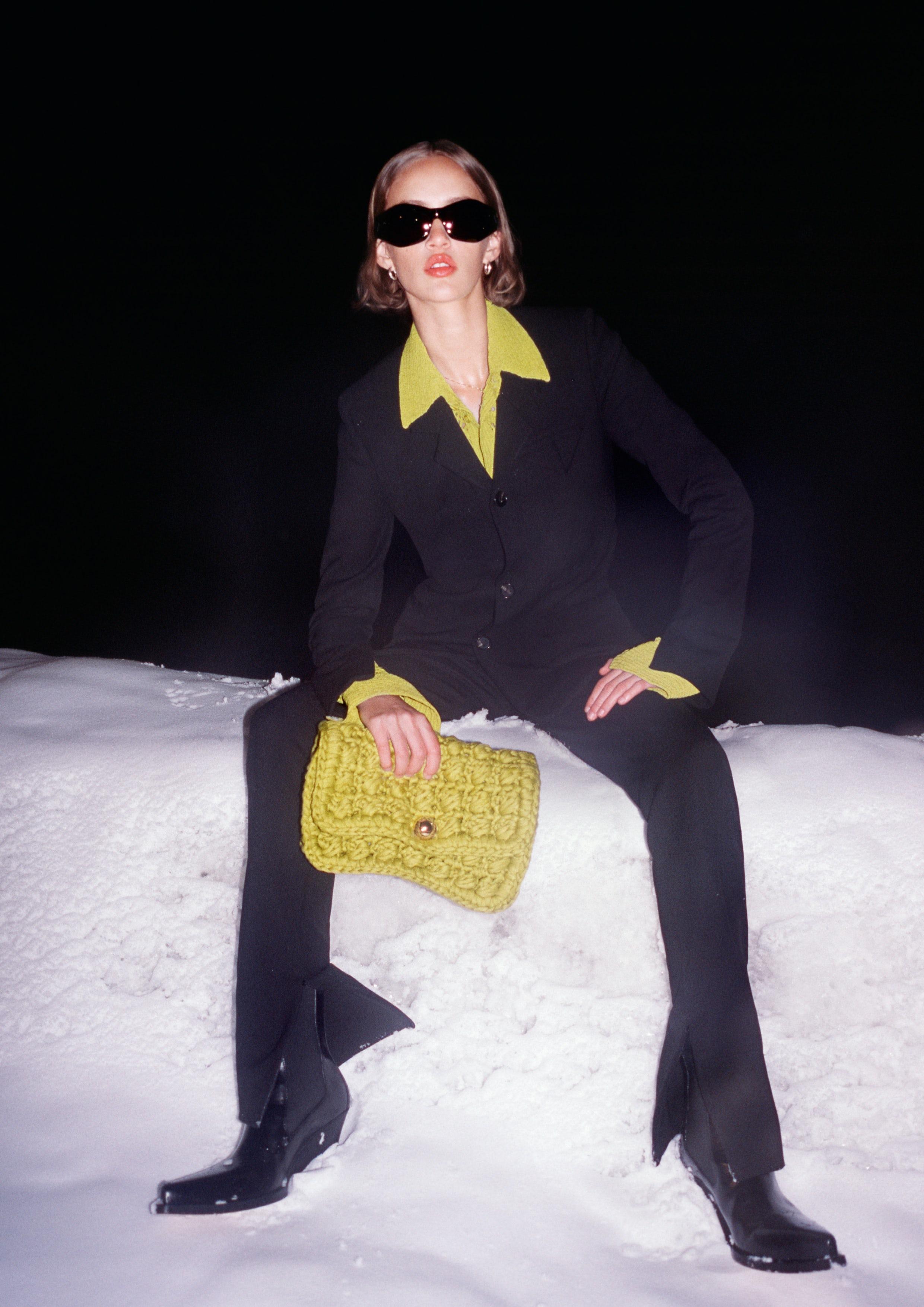 An image from Bottega Veneta\'s Fall 2020 Campaign by photographer Tyrone Lebon