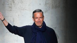 Dries Van Noten during the Dries Van Noten show at Paris Fashion Week in February 2020. Getty Imagery.