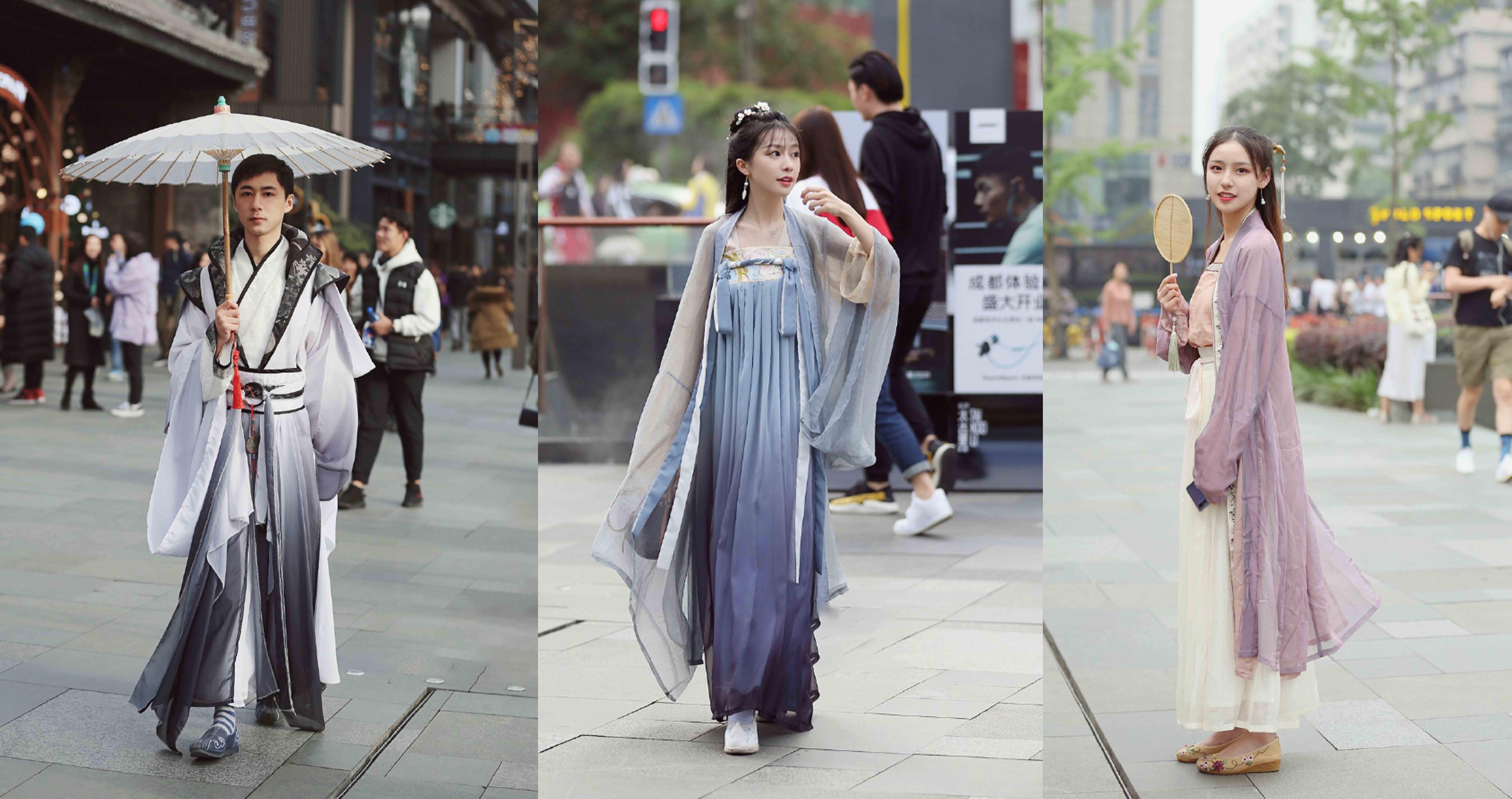 Hanfu streetstyle shot by Weibo user @她街拍 | Source: Weibo @她街拍