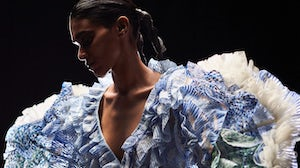 A look from Rahul Mishra's Fall 2021 couture collection. Rahul Mishra