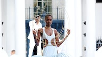 Pyer Moss Haute Couture debut on Saturday. Getty Images.