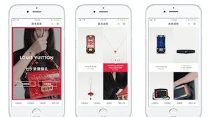 Louis Vuitton's Qixi limited edition WeChat mini-programme. Louis Vuitton