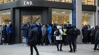 Line in front of End Clothing store in London | Source: Courtesy