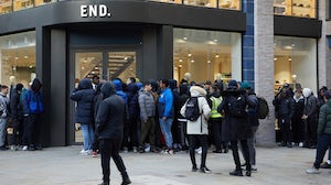 Line in front of End Clothing store in London   Source: Courtesy
