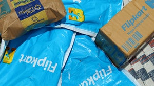 Flipkart delivery packages. Shutterstock.