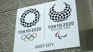 Tokyo Olympic Games sign. Shutterstock.