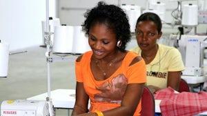 Inside Industrial Revolution II's garment factory in Haiti. Industrial Revolution II