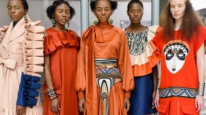 Looks from Mantsho, one of the brands showing as part of South African Fashion Week. SAFW