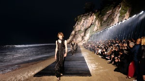 Saint Laurent Men's Spring/Summer 2020 runway show in Malibu, California. Getty.