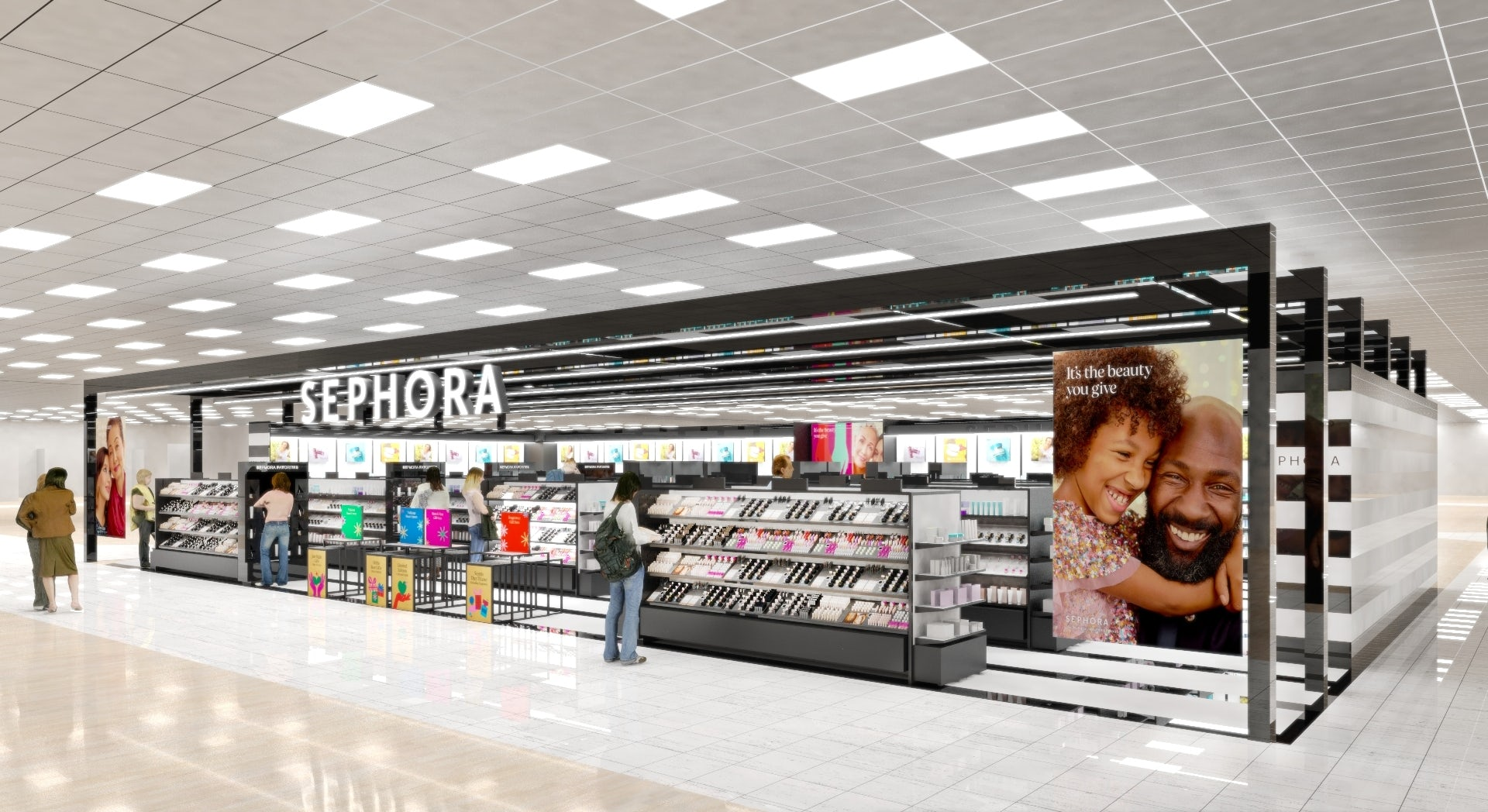 Rendering of Sephora at Kohl\'s. Kohl\'s.