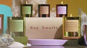 Boy Smells product imagery. Boy Smells.
