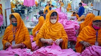 Garment workers in Bangladesh. Getty Images