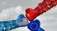 Illustration of international trade wars. Shutterstock.
