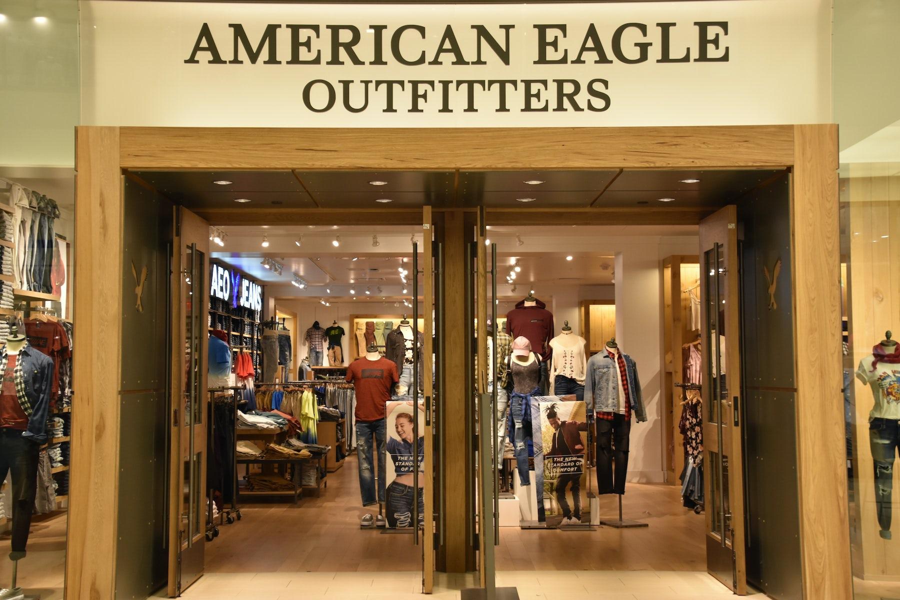 American Eagle store. Shutterstock.