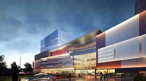 An exterior rendering of the Lalaport shopping mall in Shanghai. Lalaport Official WeChat.