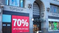 Topshop store in on Oxford Street in London, UK. Shutterstock.